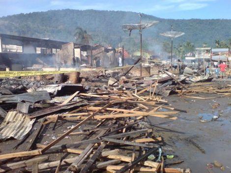 pasar talu setelah kebakaran