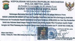 Surat Keterangan Kepolisian