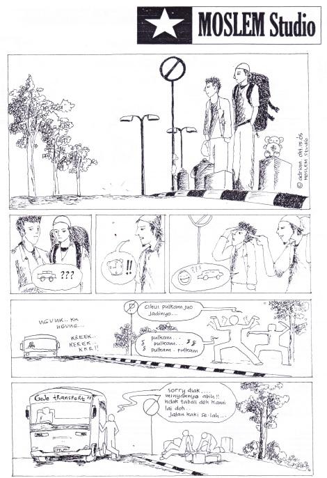 ceritanya lagi kelangkaan BBM, mahasiswa ga bisa pulang kampung